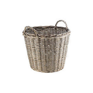 Photo of Rustic Chunky Willow Log Basket Household Storage
