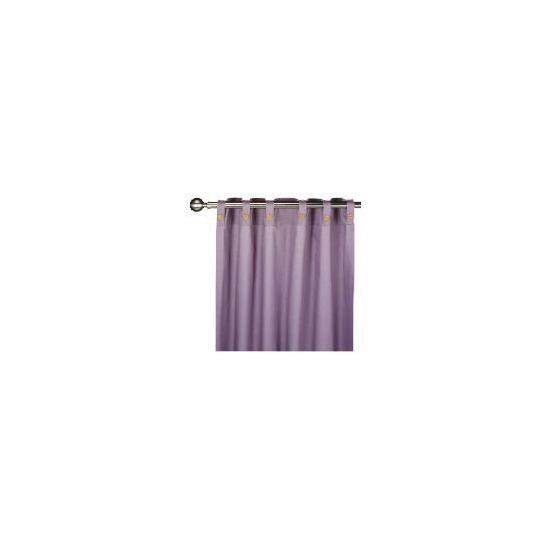 Tesco Plain Canvas Unlined Pencil Pleat Curtain 168x229cm, Grape