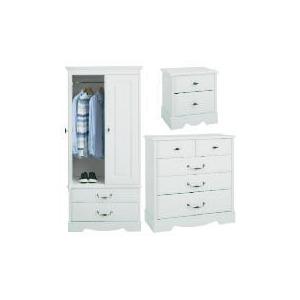 Photo of Dorset 2 Door Robe Large Room Set White Furniture