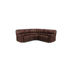 Photo of Madrid Leather Recliner Corner Unit, Brown Furniture