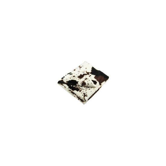 Tesco Faux Fur Cow Print Throw