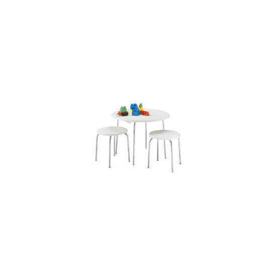 Doodle Table & 2 Stools, White