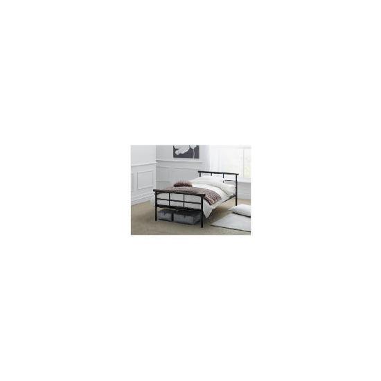Durban Single Bed Frame, Black Finish