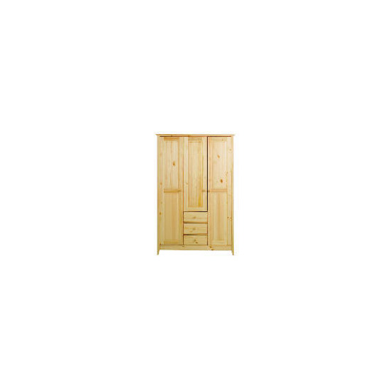 Fairhaven Triple Wardrobe, Natural
