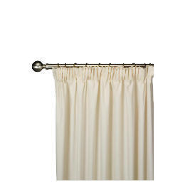 Tesco Plain Canvas Unlined Pencil Pleat Curtain 168x183cm, Natural Reviews