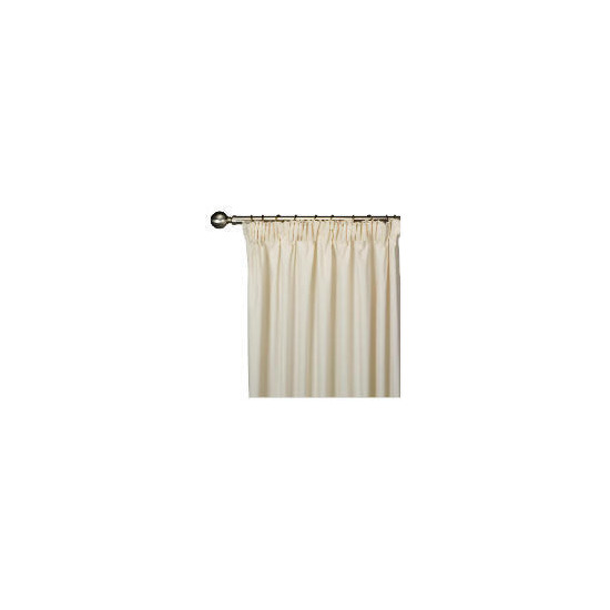Tesco Plain Canvas Unlined Pencil Pleat Curtain 168x183cm, Natural