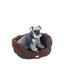 """Rosewood 28"""" Suede Oval Dog Bed Cappuccino Reviews"""