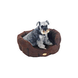 "Photo of Rosewood 28"" Suede Oval Dog Bed Cappuccino Home Miscellaneou"