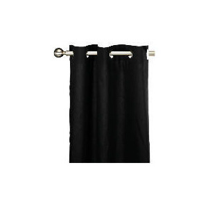 Photo of Tesco Plain Canvas Unlined Eyelet Curtain 168X137CM, Black Curtain