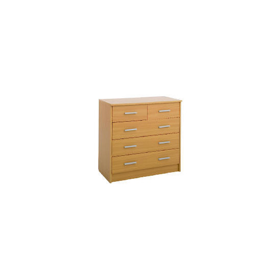 Compton 5 Drawer Chest Beech