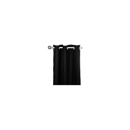 Tesco Plain Canvas Unlined Eyelet Curtain 117x229cm, Black
