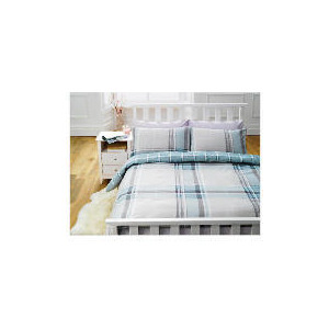 Photo of Tesco Pastel Check Print Duvet Set King, Pastel Bed Linen