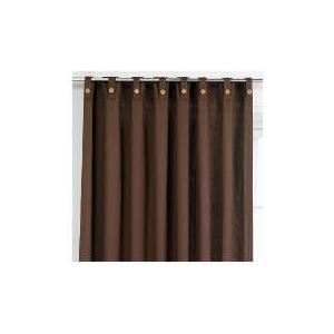 Photo of Tesco Plain Canvas Unlined Belt Top Curtain 168X183CM, Chocolate Curtain