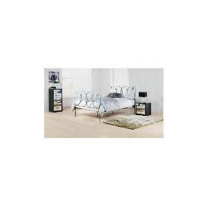 Photo of Mataro King Bed Frame, Pewter Effect Finish Bedding