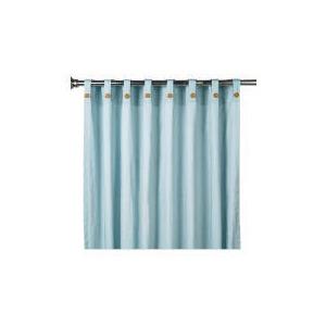 Photo of Tesco Plain Canvas Unlined Belt Top Curtain 168X137CM, Duck Egg Curtain