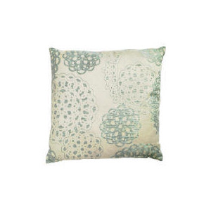 Photo of Tesco Jacquard Lace Effect Cushion Duck Egg Cushions and Throw