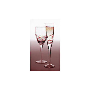 Photo of Tesco Drizzle Wine Glass Red, 4 Pack Dinnerware