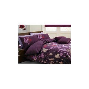 Photo of Tesco Libre Jardin Print Duvet Set King, Plum Bed Linen