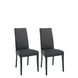 Pair of Lucca Chairs, Black Leather with black legs Reviews