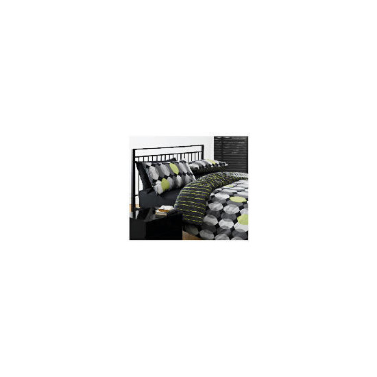 Tesco Geo Print Duvet Set Double, Black