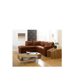 Aspen Left Hand Corner Leather Sofa, Cognac Reviews