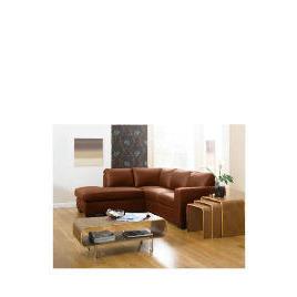 Aspen Left Hand Corner Leather Sofa, Cognac Reviews