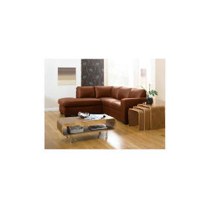 Photo of Aspen Left Hand Corner Leather Sofa, Cognac Furniture