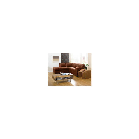 Aspen Left Hand Corner Leather Sofa, Cognac