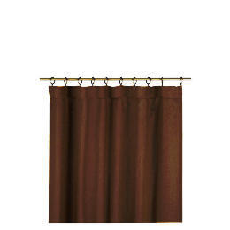 Tesco Plain Canvas Unlined Pencil Pleat Curtain 117x229cm, Chocolate Reviews