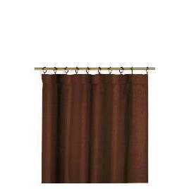Tesco Plain Canvas Unlined Pencil Pleat Curtain 117x229cm, Chocolate Reviews