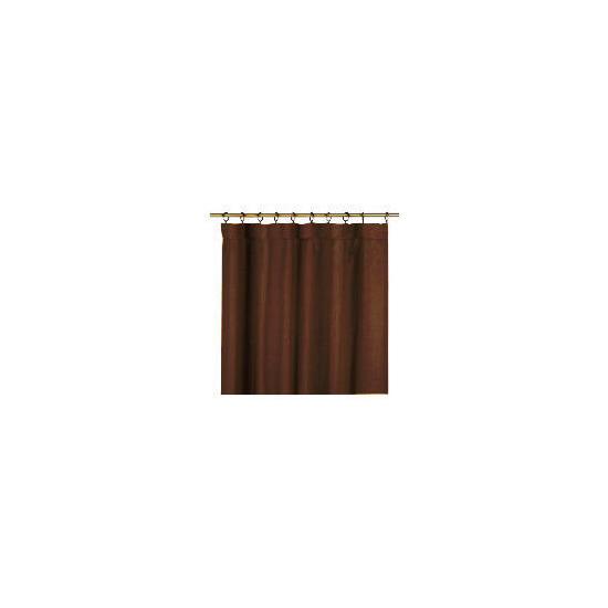 Tesco Plain Canvas Unlined Pencil Pleat Curtain 117x229cm, Chocolate