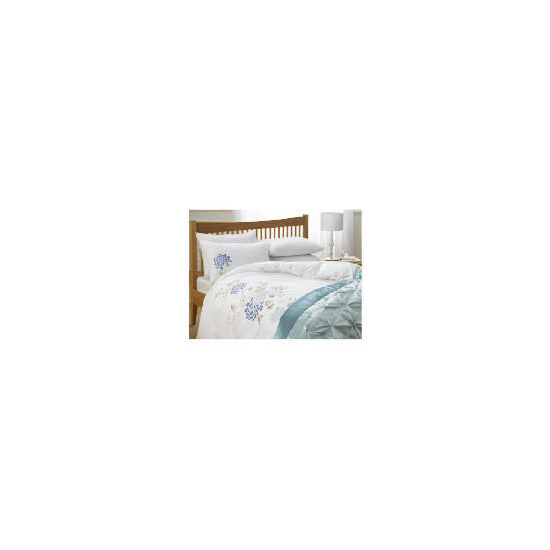 Tesco Winter Romance Embroidered Duvet Set King, White