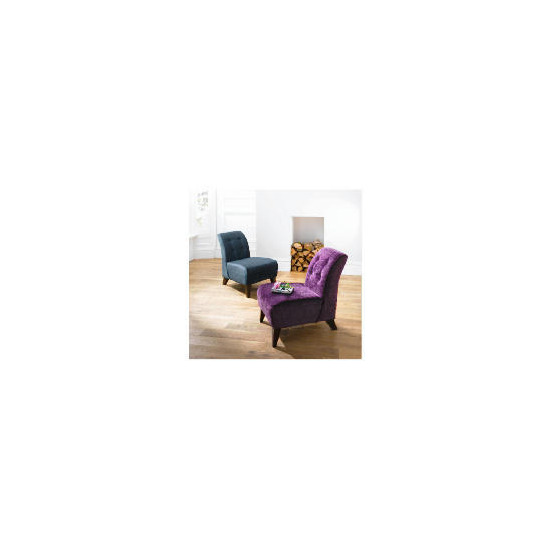Rosa Occasional Chair, Velvet Plum