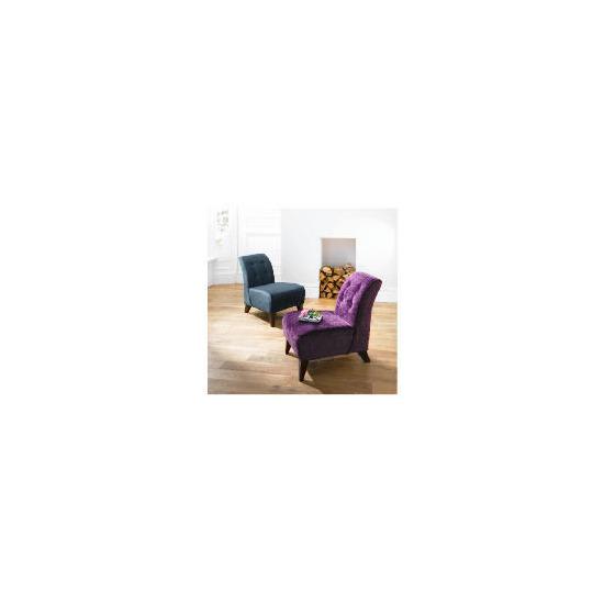 Rosa Occasional Chair, Velvet Plum