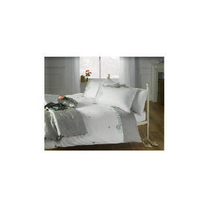 Photo of Elspeth Gibson Sequin Trail Embroidered Duvet Set King, Ivory Bed Linen