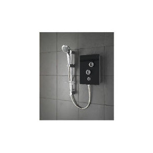 Photo of Triton Glass Electric Shower Black Bathroom Fitting