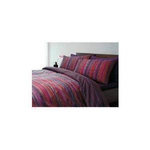 Photo of Tesco Celio Print Duvet Set King, Plum Bed Linen