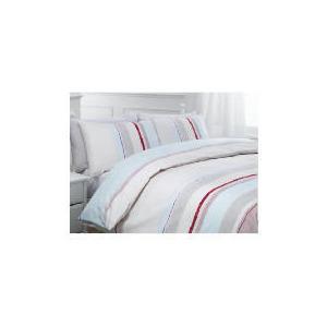 Photo of Tesco Kieran Stripe Print Duvet Set Double, Pastel Bed Linen