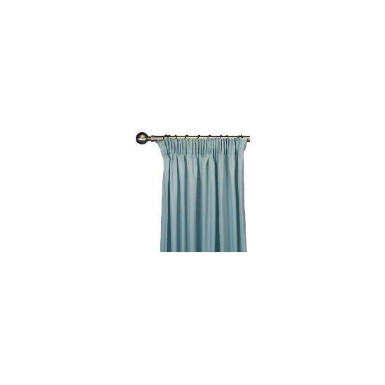 Tesco Plain Canvas Unlined Pencil Pleat Curtain 117x229cm, Duck Egg