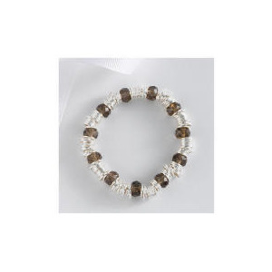 Photo of Sterling Silver Link and Bead Bracelet Jewellery Woman