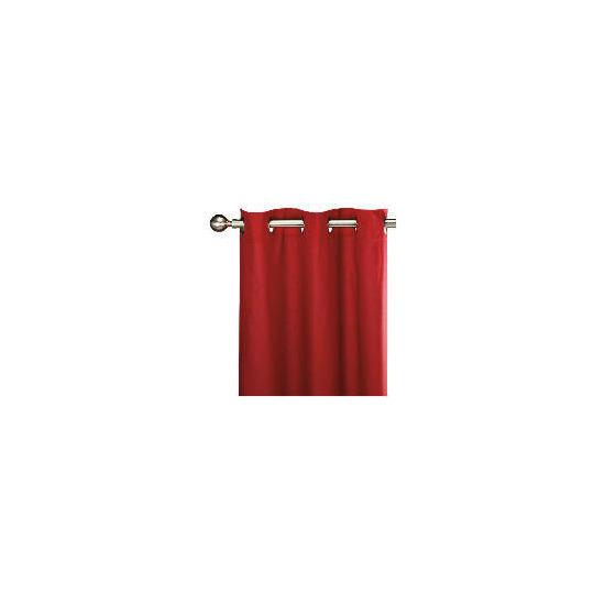 Tesco Plain Canvas Unlined Eyelet Curtain 168x229cm, Red