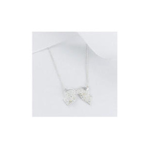 Photo of Sterling Silver Cubic Zirconia Bow Pendant Jewellery Woman