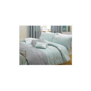 Photo of Tesco Libre Embroidered Duvet Set King, Aqua Bed Linen