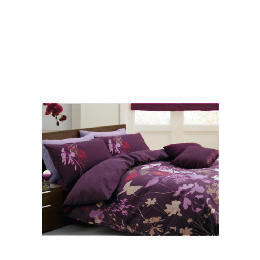 Tesco Libre Jardin Print Duvet Set Double, Plum Reviews