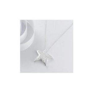 Photo of STERLING SILVER CUBIC ZIRCONIA STAR PENDANT Jewellery Woman