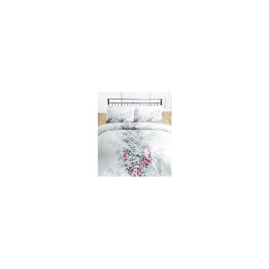 Tesco Cherry Blossom Embroidered/Print Duvet Set Double, White