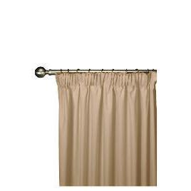 Tesco Plain Canvas Unlined Pencil Pleat Curtain 229x183cm, Mink Reviews