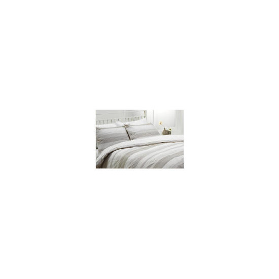 Tesco Manhattan Print Duvet Set Kingsize, Natural
