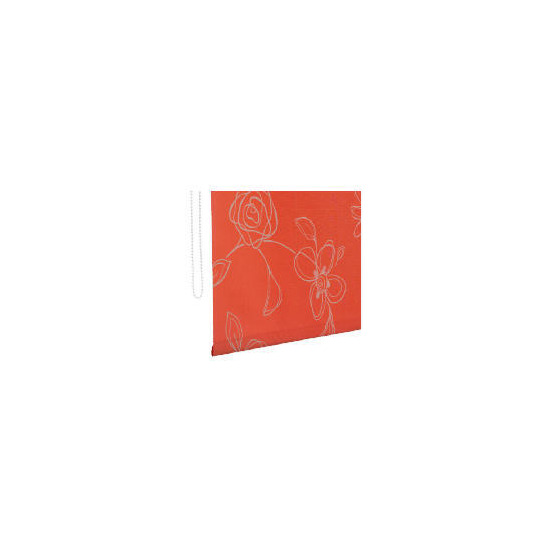 Designed Roller Blind 120cm Clematis Red