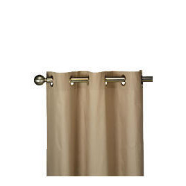 Tesco Plain Canvas Unlined Eyelet Curtain 229x183cm, Mink Reviews